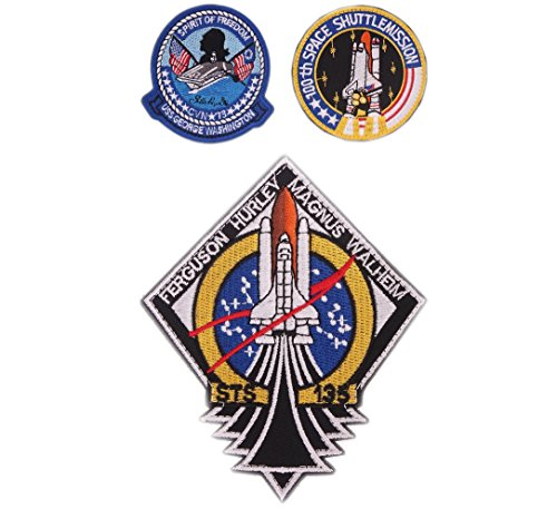 VOZUKO Morale Patch USA NASA Astronaut Space 3D Embroidered Flight Space Explorer Research Combination Badge Patch - Set of 3 -