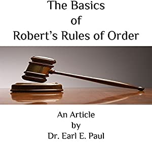 The Basics of Robert's Rules of Order Audiobook