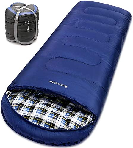 NORSENS Sleeping Bags for Adults -3 Season Lightweight Compact Backpacking Sleeping Bag with Upgraded Compression Sack