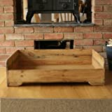 Hunt & Wilson Handmade Wooden Dog Bed (Large: 100x80cm, Wooden)