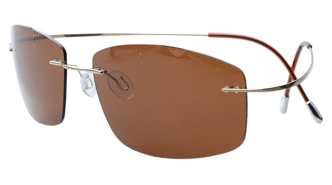 Eyekepper Gafas de Sol Polarizadas con Montura Titania sin Borde