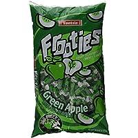 Green Apple Tootsie Roll Frooties Chewy Candy - 38.8 oz bolsa de 360 piezas (sin gluten ~ sin maní)