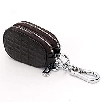 Car Key Chain Wallet Genuine Leather Pouch Ring Case Purse Holder Men Womens New