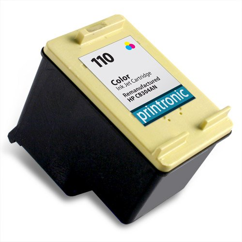 Printronic Remanufactured Ink Cartridge Replacement for HP 110 CB304AN (1 Color), Office Central