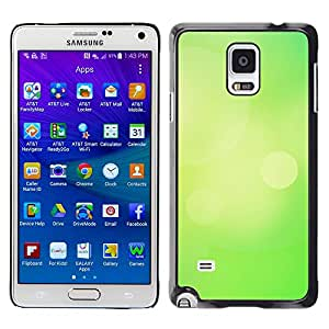 MOBMART Carcasa Funda Case Cover Armor Shell PARA Samsung Galaxy Note 4 - Plain Chartreuse Color Design