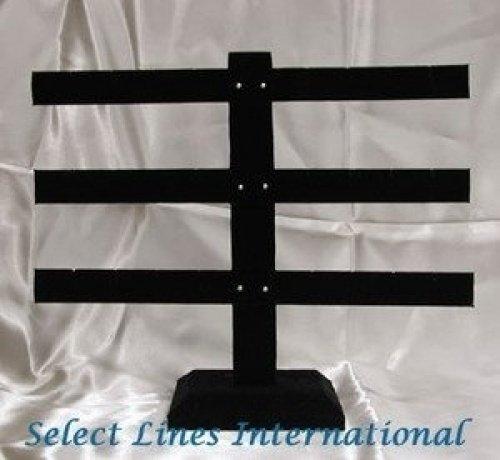 1 X Black Velvet Tree T-Bar Earring Jewelry Display ! Kaylah Designs 4296728004