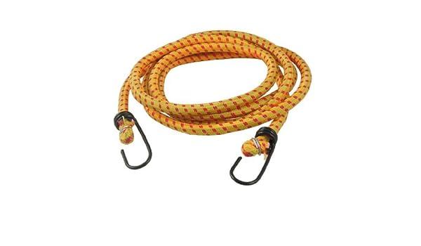 eDealMax ganchos dobles 2 m de largo Amarre de cuerdas elásticas correas Amarillo para bicicletas - - Amazon.com