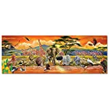Melissa & Doug African Plains Safari Jumbo Jigsaw Floor Puzzle (Preschool,  100 Pieces, Over 121.92 cm Long)