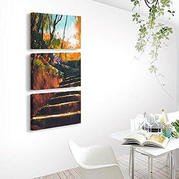 Paintsh Moderne Vertikale Veranda Wohnzimmer Malerei Gold Baum Wandbilder Wohnzimmer  Abend Malerei Einfache Holz Kreativ Abstrakte