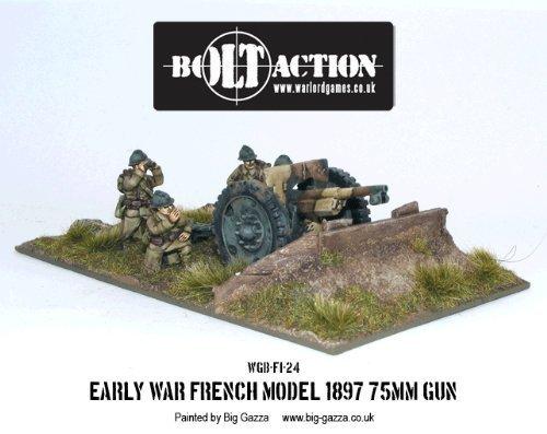75mm Early War French Gun Miniature