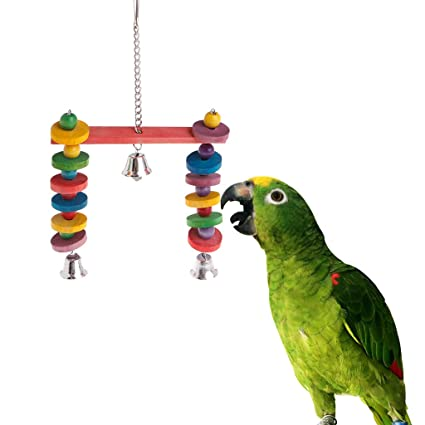 Amazon com : EA-STONE Parrot Bird Chewing Toy, Parrot Perch