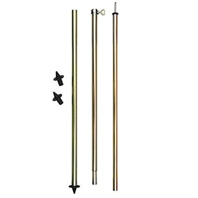 10T Outdoor Equipment Pole 200Tente Barre, doré, 140–200cm