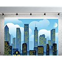 10x6.5 ft Blue Super City Photography Backdrops no Crease Children Backgrounds for Photo Studio FT1783B