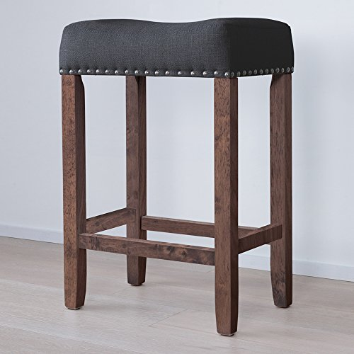 Nathan James 21305 Hylie Wood Counter Kitchen Bar Stool, 24