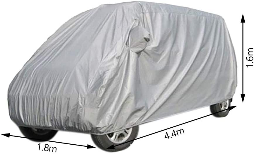 Jetcloud Car Cover Waterproof Breathable Thick Cotton Full Car Covers Snow Cover Windproof Dustproof Scratch Resistant UV Protection Outdoor Car Protection Cover with Zipper,Large 440x180x160cm