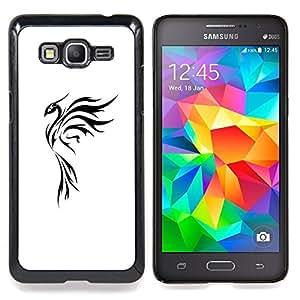 For Samsung Galaxy Grand Prime SM-G530F G530FZ G530Y G530H G530FZ/DS , Arte del tatuaje simple Negro Blanco - Diseño Patrón Teléfono Caso Cubierta Case Bumper Duro Protección Case Cover Funda