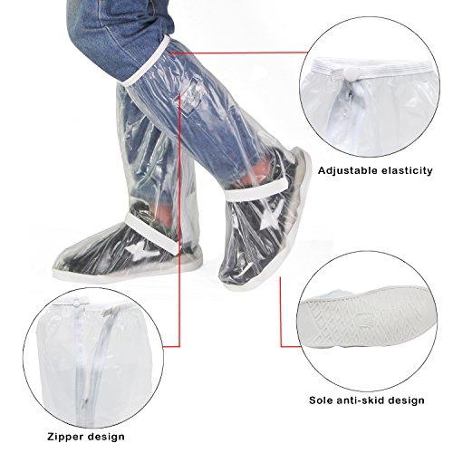 Copriscarpe Antiscivolo Con Stivali Trasparente Riutilizzabile Taglia Impermeabile Cerniera Hseamall Di S Pioggia Scarpe fa0tCt