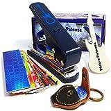 Pick-a-Palooza® DIY Guitar Pick Punch Mega Gift Pack - Premium Guitar Pick Maker - BLUE