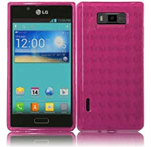 LG OPTIMUS SHOWTIME L86C / Optimus Ultimate ( Straight Talk , Net10 ) Phone Case Accessory Delicate Pink TPU Skin Cover with Free Gift Aplus Pouch