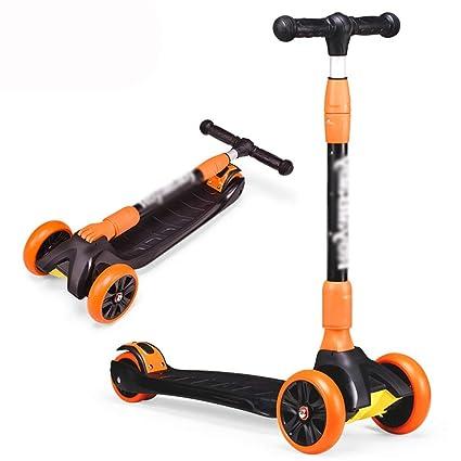 LJHBC Patinete Scooter Infantil de 4 Ruedas Altura Ajustable ...