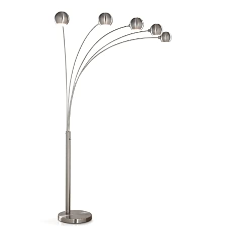 HomeTREND Orbs 5 Light Arc Floor Lamp, Arch Lamp, Modern Floor Lamp, Dimmer