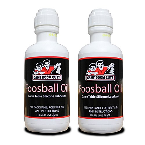 Game Room Guys Package of 2 4 oz Bottles of Foosball Oil