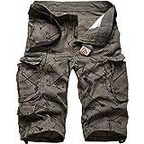 Cottory Men's Camouflage Outdoor Wear Lightweight Cargo Short Green Medium