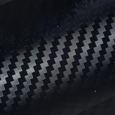 Orion Motor Tech 5D Carbon Fiber Vinyl Wrap Ultra Glossy Reflective Texture For Car Black 72x60 inch