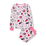 The Children's Place Girls' Big Long Sleeve Graphic Pajama Set, Cameo, 14