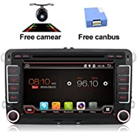 Free camera+Canbus 7 2 Din android 4.4 Qual-core Touch Screen Car DVD Player navigation for VW Volkswage Support Mirror Link/OBD2/Subwoofer/RDS/Bluetooth for Volkswagen VW Car
