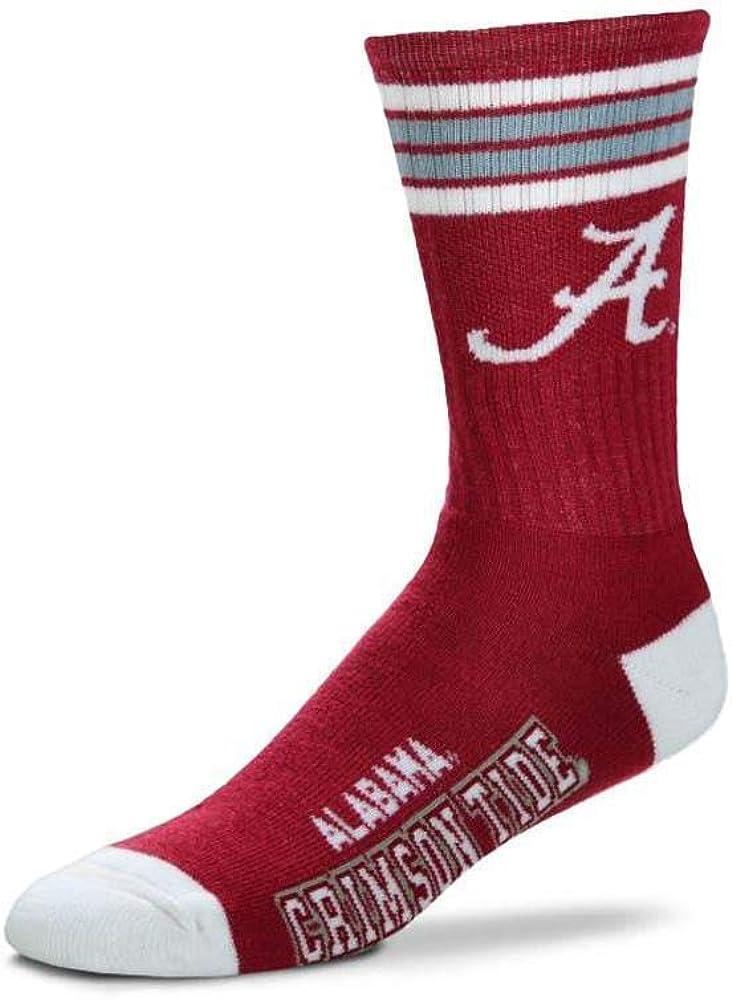 For Bare Feet NCAA Mens Team Vortex RMC Crew Socks-Medium /& Large Sizes-Texas Longhorns-Medium 5-10