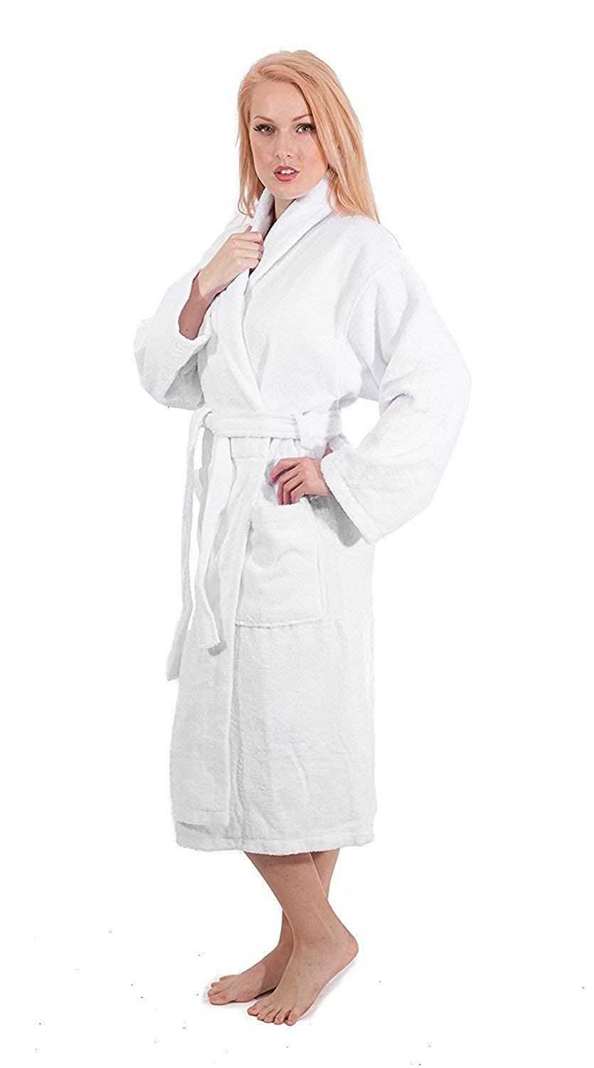 Luxury Bathrobes For Men Women 100% Pure Cotton Hooded Style Terry Towelling Lustrous Towels & Washcloths