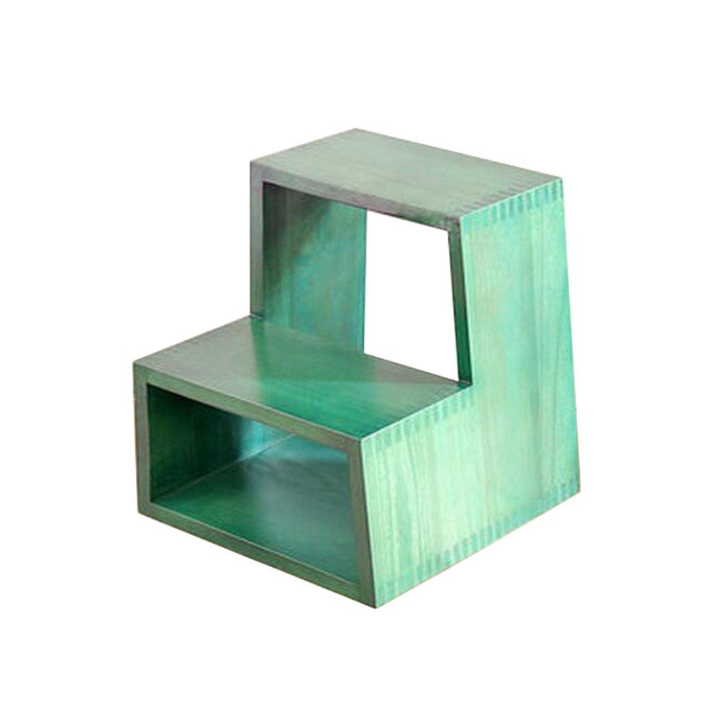 X&YY DLDL無垢材スツールホームストレージスツール(40 * 38 * 44センチメートル) (色 : Green) B07KW37GWV Green