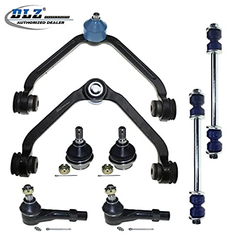 DLZ 8 Pcs Front Suspension Kit-2 Upper Control Arm Assembly, 2 Lower Ball Joints, 2 Outer Tie Rod Ends, 2 Sway Bars for 1998-2003 Ford Explorer, 1998-2001 Ford Ranger Mazda B2500 B3000 - Ford Ranger Control Arm