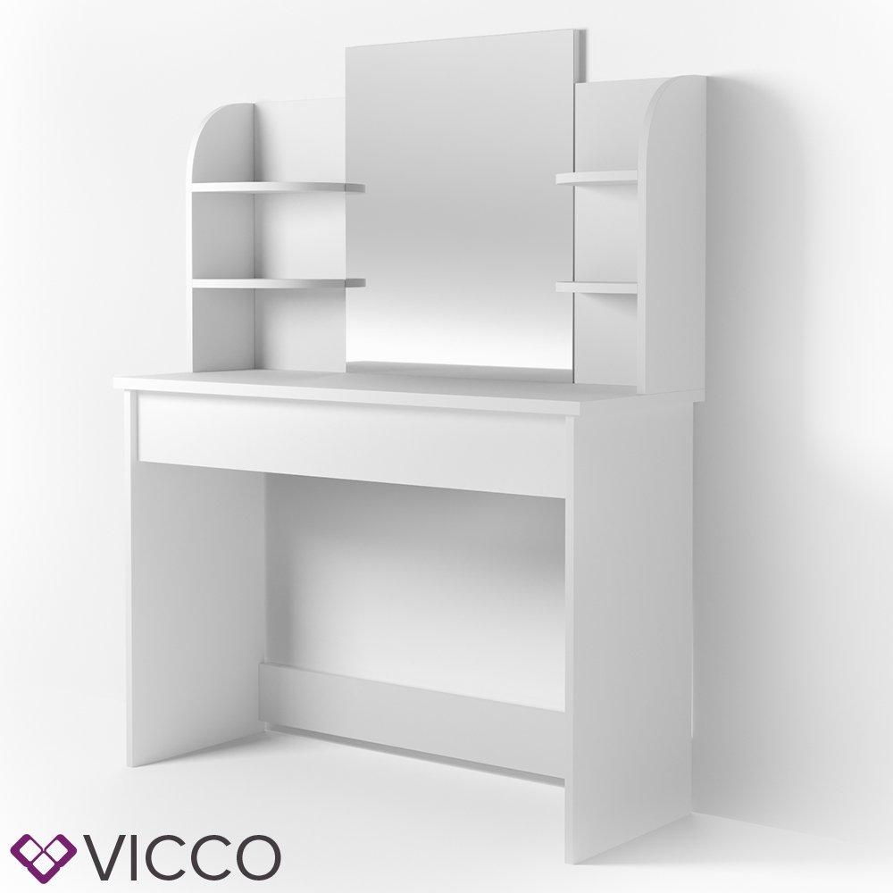 VICCO Schminktisch CHARLOTTE 142 X 108 Cm Weiß   Frisiertisch Kommode  Spiegel +++ Schminkkommode Mit Schubfach  Und Regalsystem +++: Amazon.de:  Küche U0026 ...