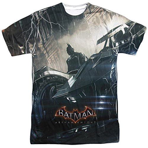 Trevco Batman Arkham Knight Into The Night Two Sided Adult T-Shirt at Gotham City Store