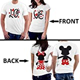 PicOnTshirt Mickey Minnie Two Sided Matching Couple Shirts Men S / Women M Design 166
