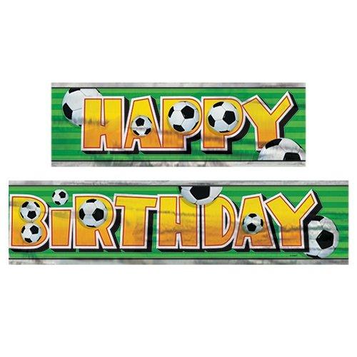 - 12ft Foil Soccer Party Banner