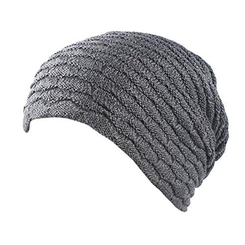 Crochet punto Unisex Men Skull Slouch Fashion Women Soft Gray De Stretch Hip Thick Beanie Zhhlinyuan Warm Cap Hop Sombreros 6HAZqHx