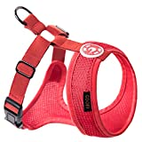 Gooby Choke Free Freedom Harness II for Small Dogs, X-Small, Red