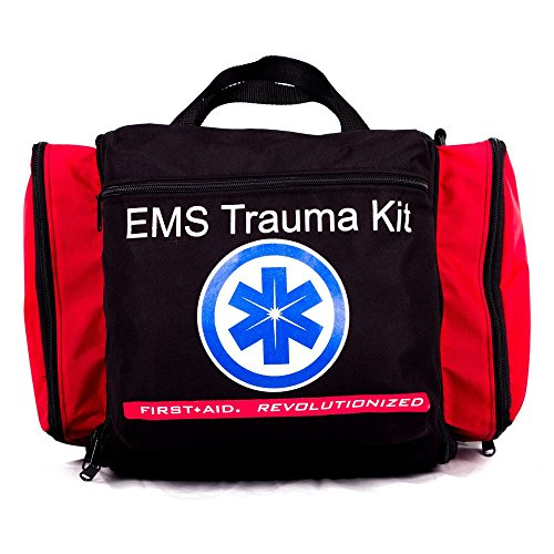 Deluxe Ems-Style Kit By Nutristore | First Aid Ems Kit Including First Responder Medical Supplies In A Large Emergency Trauma Medic Bag by Nutristore