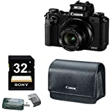 Canon PowerShot G5 X 20.2MP Digital Camera (Black) with 32GB SD Accessory Bundle