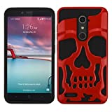 MyBat Cell Phone Case for ZTE Zmax Pro - Solid Red/Black