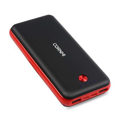 Amazon.com: cornmi 20000 mAh Cargador portátil Dual Port USB ...