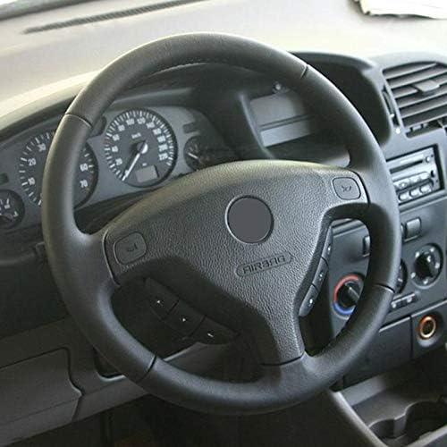 HCDSWSN //Cubierta del Volante del Coche de/Cuero Negro de Microfibra/para Opel Zafira A 1999-2005 para Buick Sail Opel Astra GH 1998-2007 Cubierta de Rueda