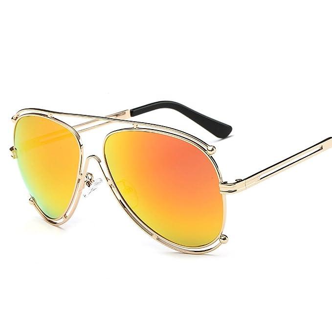 Kennifer Premium Full Espejado Unisex Aviator Gafas de sol ...