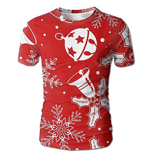 Christmas Men's Fashion Graffiti Graphic 3D Print Round Collar Short Sleeve T-shirts Tees