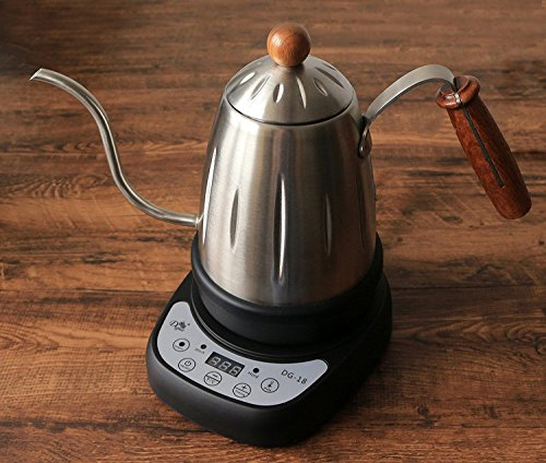 amazoncom diguo electric narrow gooseneck kettle with variable temperature settings keep warm function for pour over coffee and tea 188 stainless