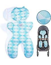 Luchild Sitzauflage Kinderwagen Sommer Atmungsaktive Sitzeinlage für Buggy Babyschale Kindersitz Universal