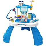 Little Treasures Deluxe 22 piece Doctor Play Set with table, doll patient and medical instruments - fun role play toy for your little munchkin